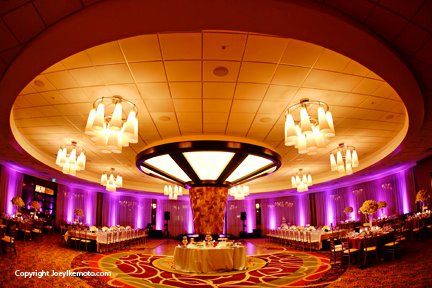 Purple Uplights at the Torrance Mariott