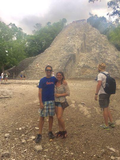 Visiting Mayan Ruins on the Yucatan Peninsula were a highlight of their trip
