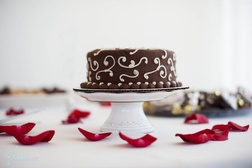 chocolate with vanilla swirls 2 rosepetals
