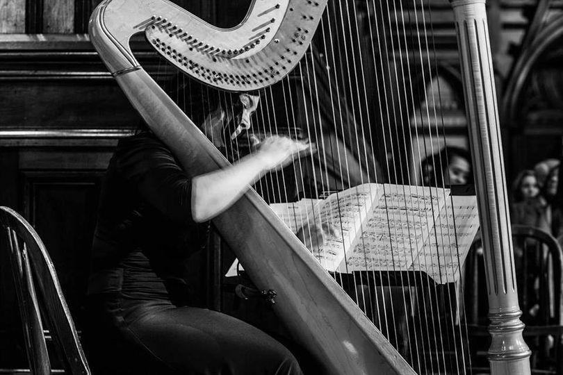 Cocktail hour harpist