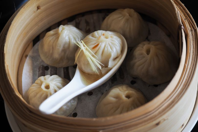 Xiao long bao 'xlb' with rich consomme