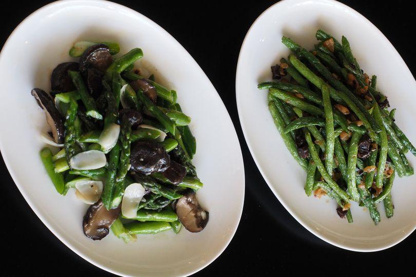 Fresh seasonal vegetables & sichuan blistered green beans