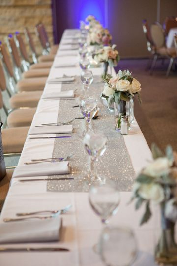 Head table close up