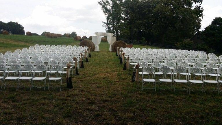 Outdoor field wedding