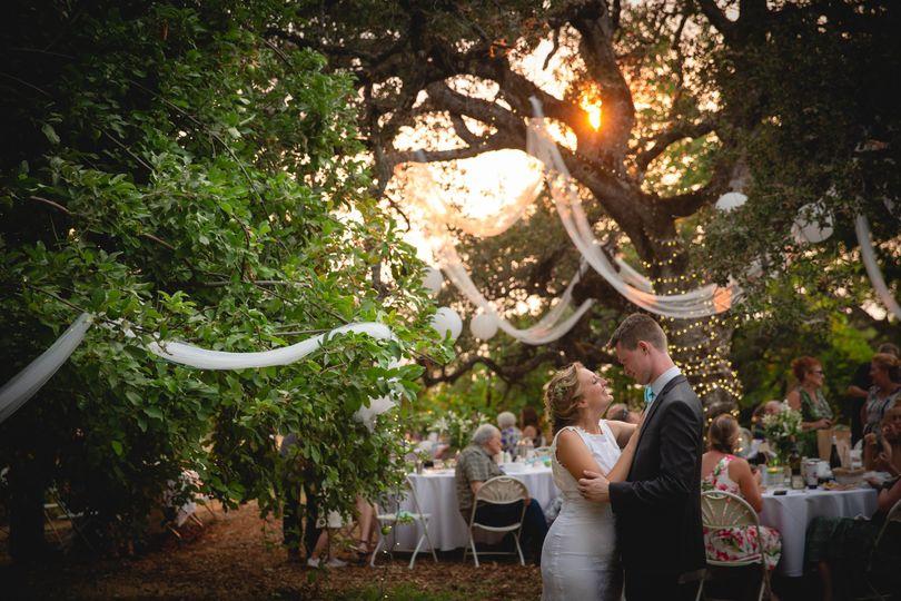 First Dance - Backyard Wedding