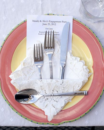 Cutlery and menu