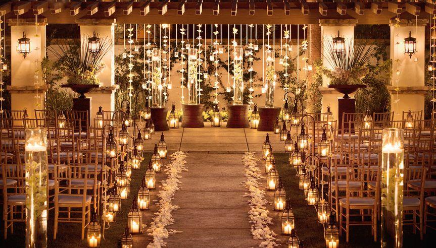 Wedding ceremony lighting