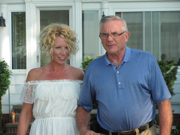 The bride and his father