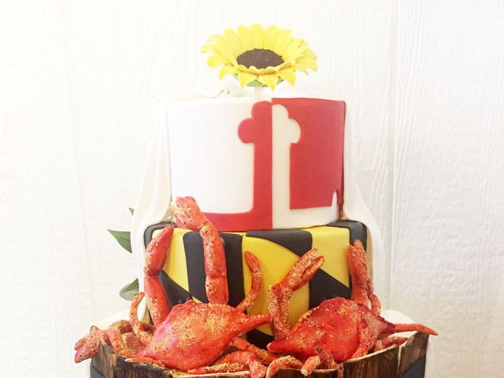 Tmx 1518140498 D55be5dec7b04dab 1518140445 4033172ab8324914 1518140433497 14 IMG 8331 Owings Mills, Maryland wedding cake