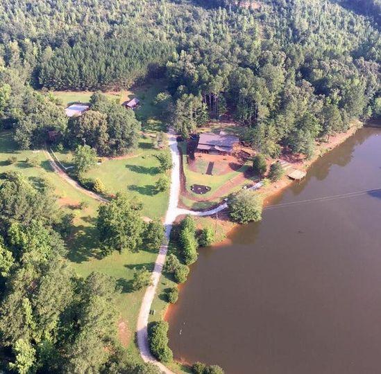 Aerial view of venue
