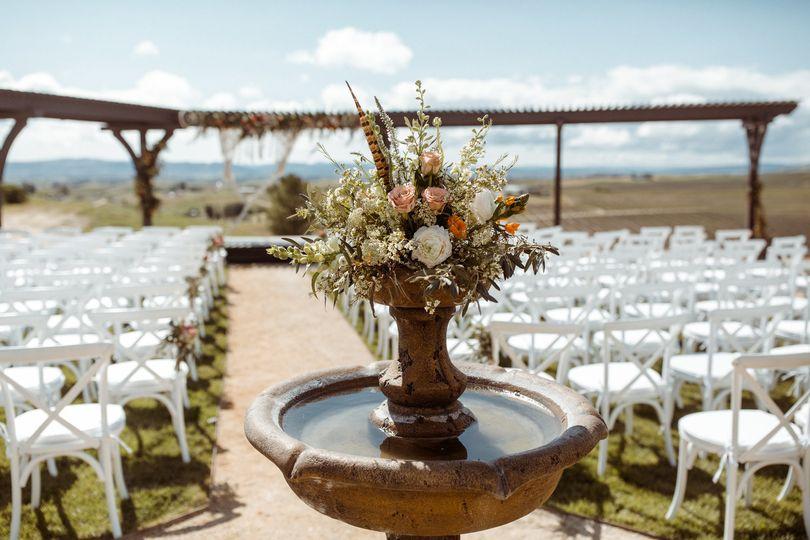 Wedding ceremony setup