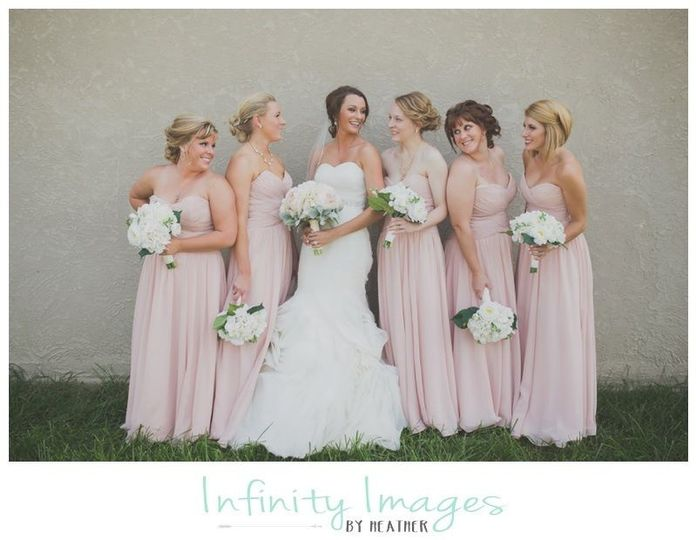 ~ Christina ~  Blush Peony & Cream Hydrangea Wedding Bouquet  Photo Credit ~ Infinity Images by...