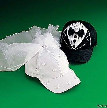 Wedding Gift: Bride and Groom Ball Caps