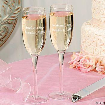 Wedding Gift: Personalized Champange Flutes