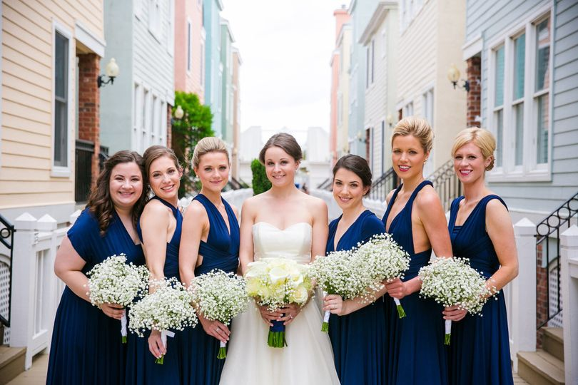 Bouquets of the bridesmaids