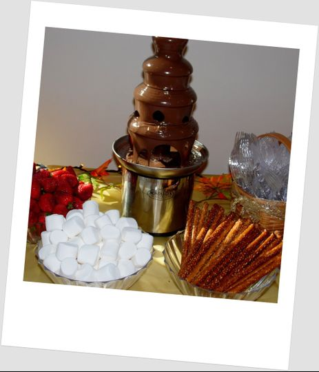 Chocolate fountain and treats