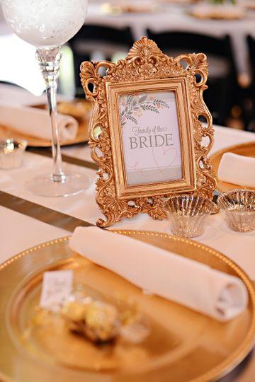 Elegant bride's parents table