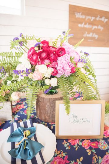 Peonies, ferns, roses, oh my!