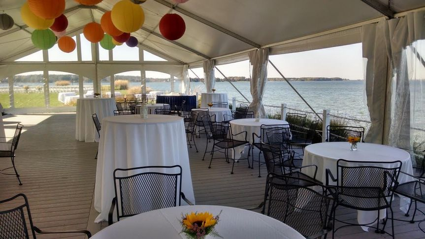 Tents can be set over the bay front deck