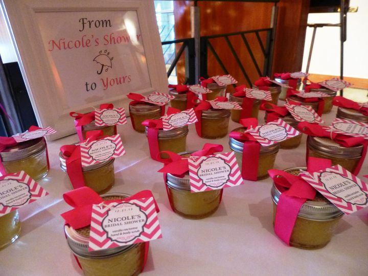 Favors (hand and body scrubs)