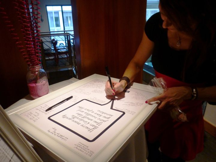 Signing of the guestbook