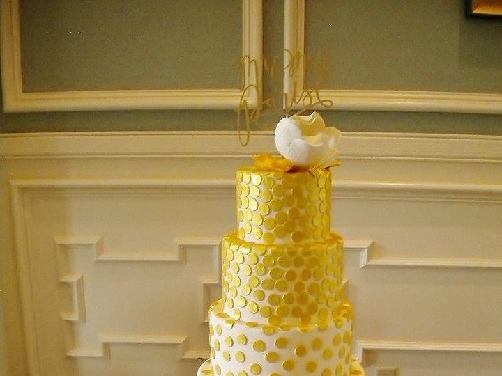 Tmx 1458411058822 Golden Wedding Montclair wedding cake