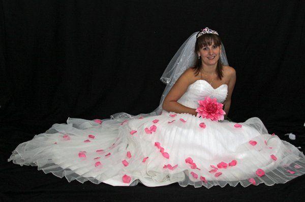 Beautiful bride in the studio.