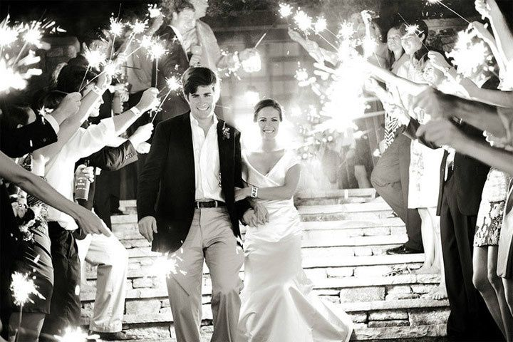 more black and white wedding sparklers