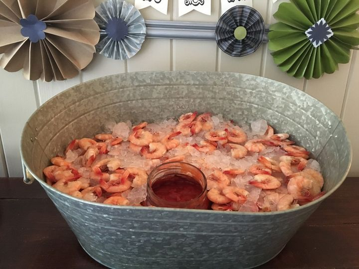 Boiled shrimp appetizer
