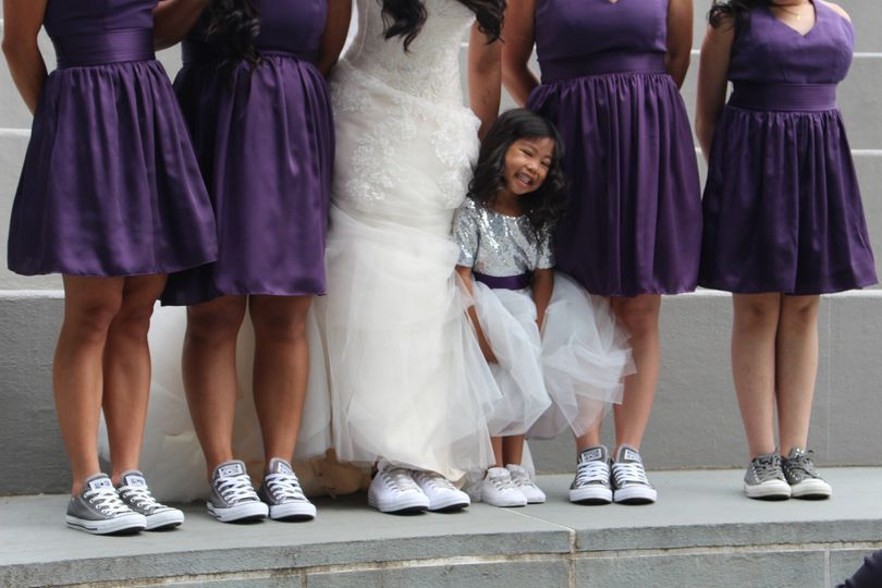Matching bridal party converse