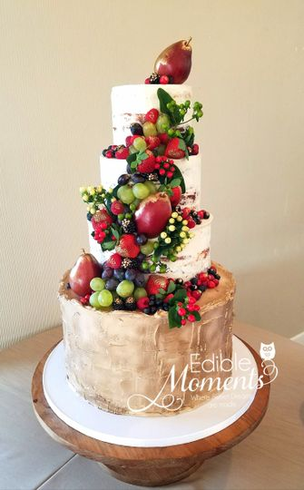 edible moments - wedding cake - richmond, tx - weddingwire