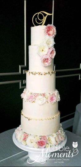 Floral Tiered Design, Gold Lea