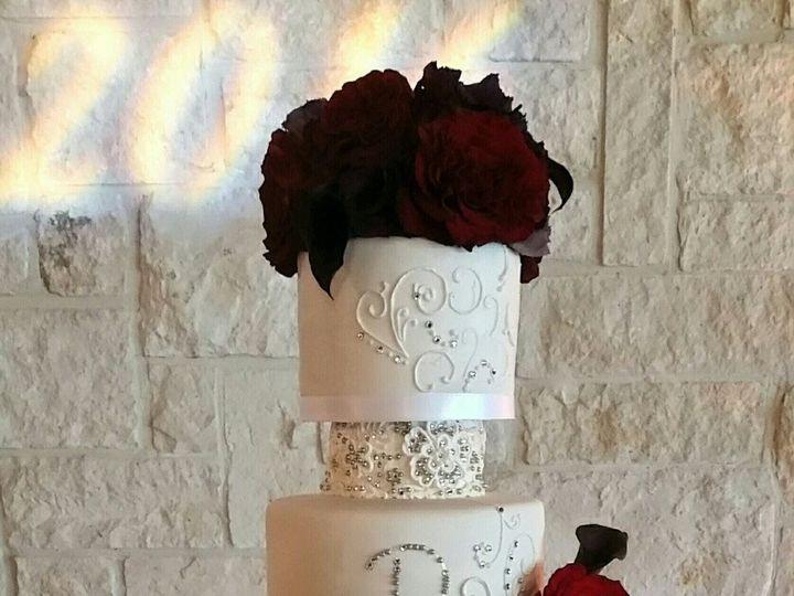 Tmx 1473137693225 Tammy Wedding Rhinestone Cake Richmond, TX wedding cake