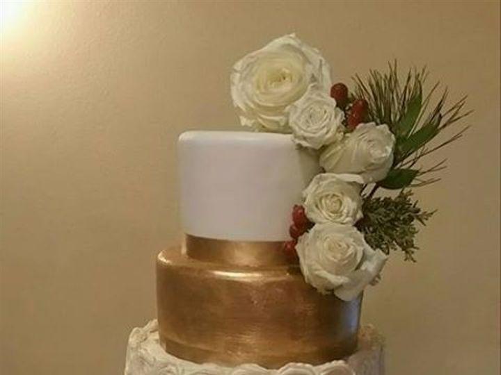 Tmx 1485314707554 Mary  Kevin Gold  Rosettes Richmond, TX wedding cake