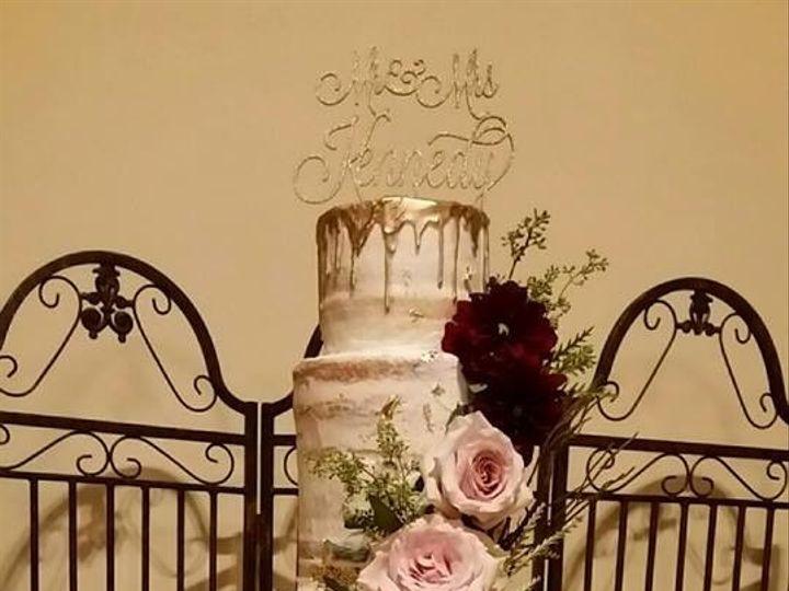 Tmx 1485314720838 Michelle  Brian Naked Cake Richmond, TX wedding cake