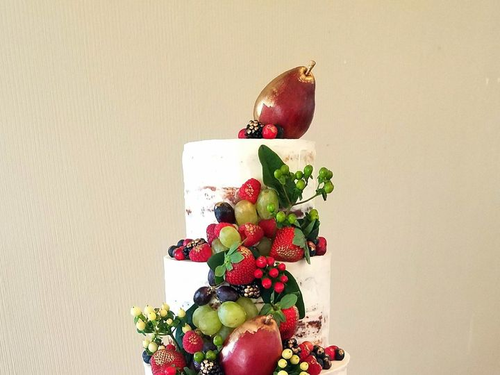 Tmx 1514827987986 Naked Cake Fruit Design Richmond, TX wedding cake