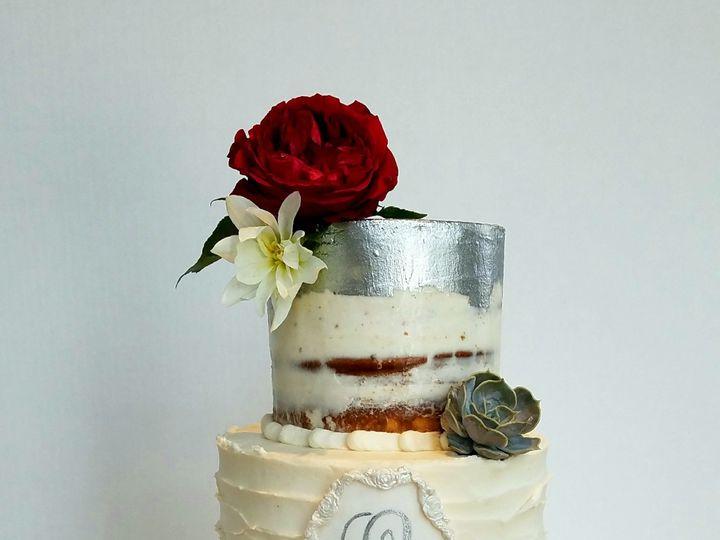 Tmx 1519784625 1525dfe31881ae59 1519784622 4667cdba774283b9 1519784627248 1 Semi Naked Cake Si Richmond, TX wedding cake