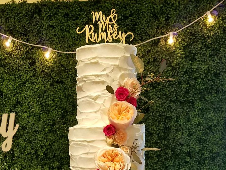 Tmx 1526572368 591da891b09a0b41 1526572366 Cd1490d4b30239d9 1526572360069 1 Lauren Wedding Cak Richmond, TX wedding cake