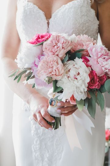 Blush, pink and white bouquet