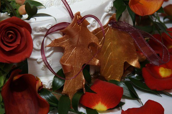 Have a fall wedding? Looking for a fun and special fall favor?   I hand make these clay leaves...