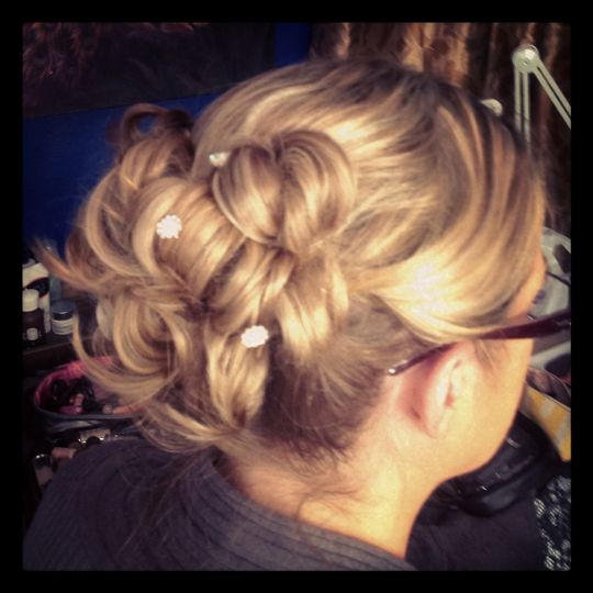 trina wedding hair