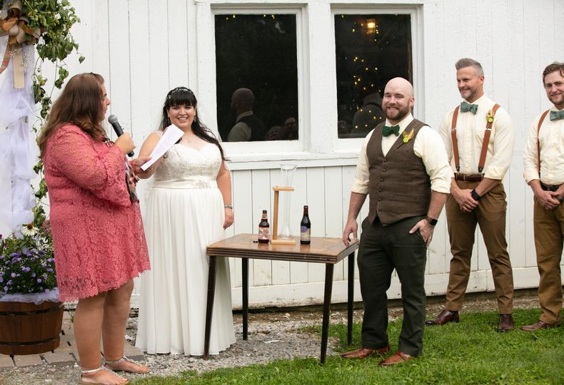 The wedding officant