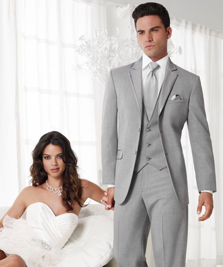 Heather Grey Aspen  Available pants in slim & ultra slim!   Matching Fabric Vest!