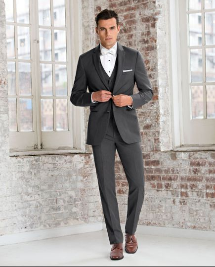 Michael Kors Charcoal Grey Sterling.  The absolute best rental slim and ultra slim fit available on...