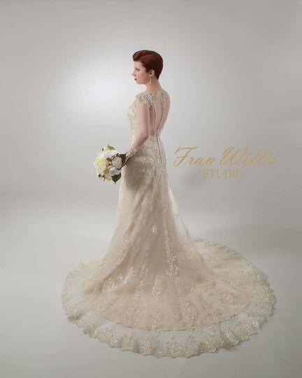 Flowy sleeved wedding dress