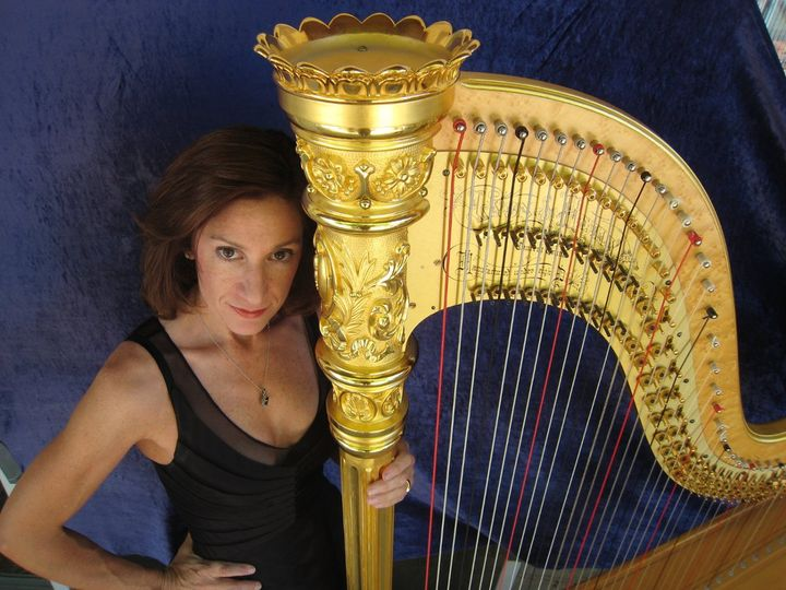 With the harp