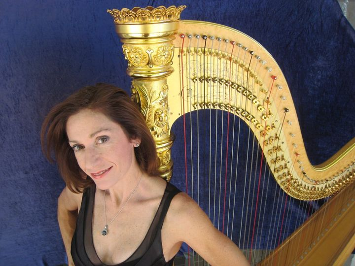 Christine and her harp