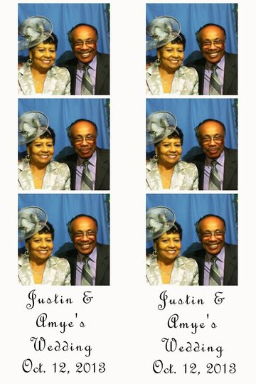 Mom and Dad having fun in the photo booth!
