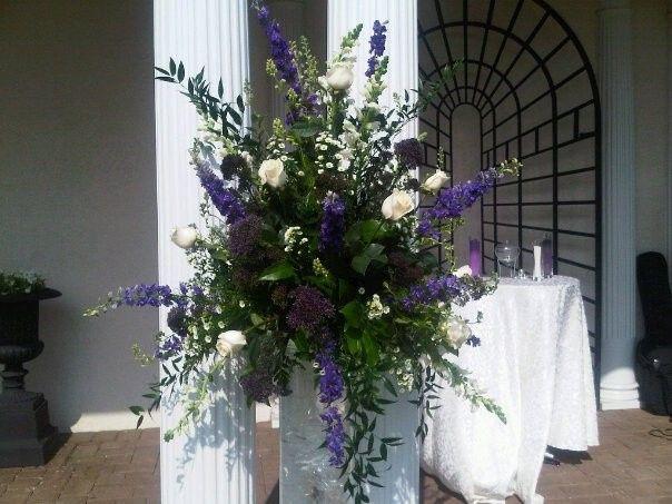 tanneh wedding tall flowers