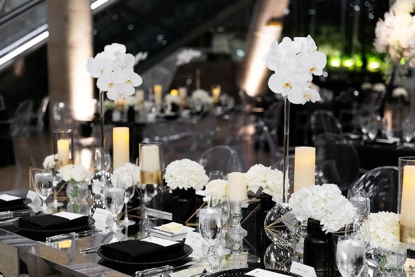 Modern Black and White Wedding